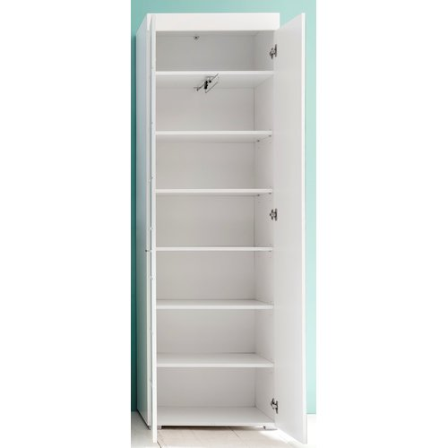 garderobenschrank amanda weiss hochglanz 229 95. Black Bedroom Furniture Sets. Home Design Ideas