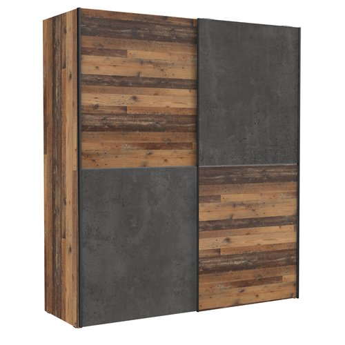 Beliebt Schwebetürenschrank Kleiderschrank Dederik in Old Used Wood Shabby BK21