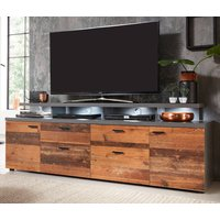 TV-Lowboard Mood in Old Used Wood Design mit Matera grau...