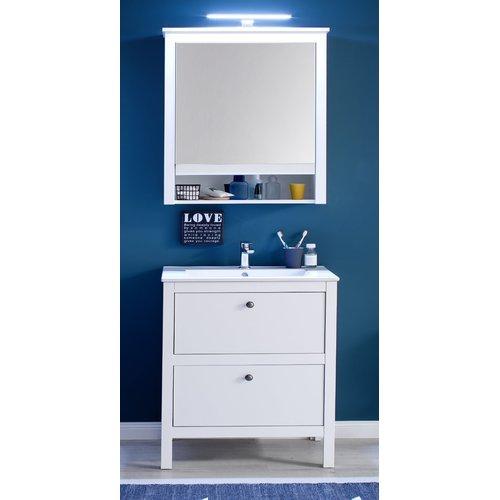Badezimmer Kombination Landhaus Weiss 3 Teiliges Set