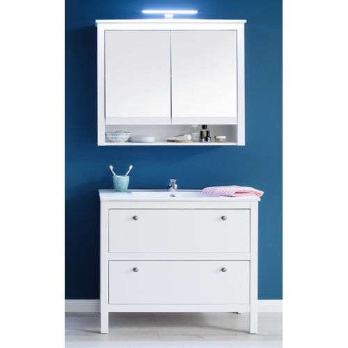 Badezimmer Kombination Landhaus Weiß 3 Teiliges Set