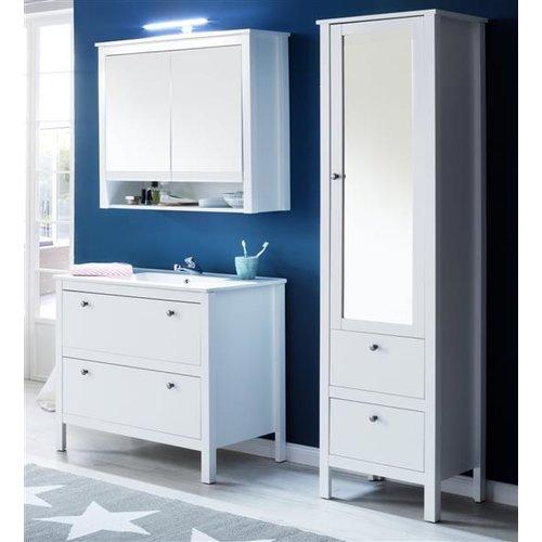 Badezimmer Kombination Landhaus Weiß 4 Teiliges Set