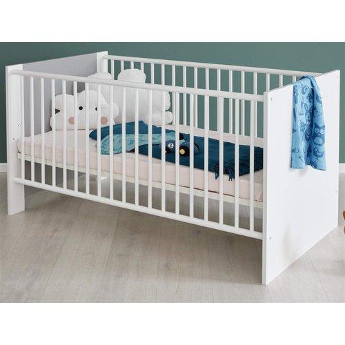 Babyzimmer weiß und grau komplett Set 2-teilig Pia ...