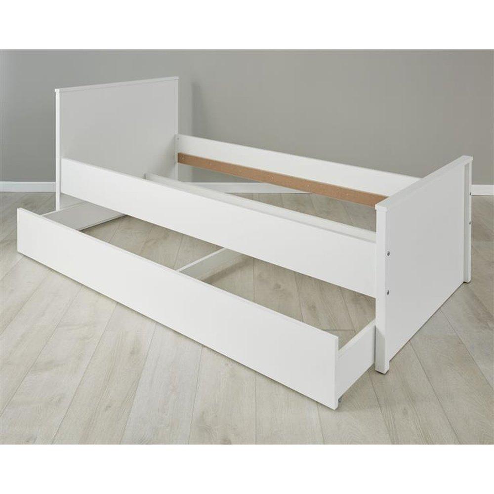Jugendbett Landhaus Weiss Jugendzimmer Bett 90 X 200 Cm Inklusive
