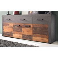 Sideboard Indy Old Wood und Graphit grau Matera Kommode...