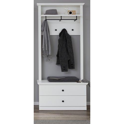 Günstige Garderobe Baxter 2 Teilig Weiß Furn Direct24