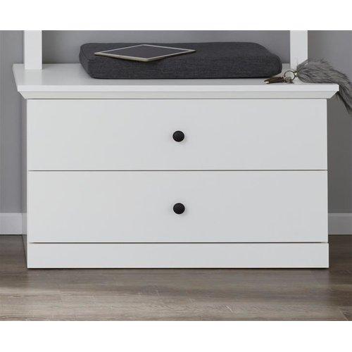 Günstige Sitzbank Garderobe Baxter Weiß 81 Cm Furn Direct24 7799