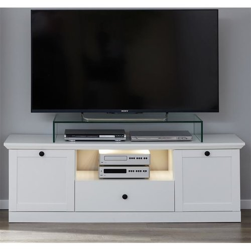 Gunstiges Tv Lowboard Baxter Weiss 139 Cm Furn Direct24
