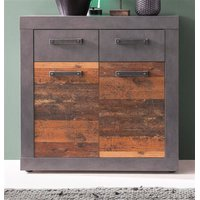 Kommode Old Wood Design und grau Matera Indy 82 x 86 cm...