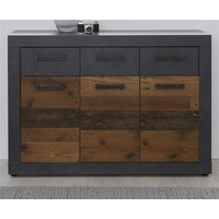 Kommode Old Wood Design und grau Matera Indy 117 x 86 cm...