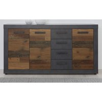 Kommode Old Wood Design und grau Matera Indy 151 x 86 cm...