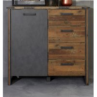 Kommode in Old Used Wood und Matera grau Prime Sideboard...