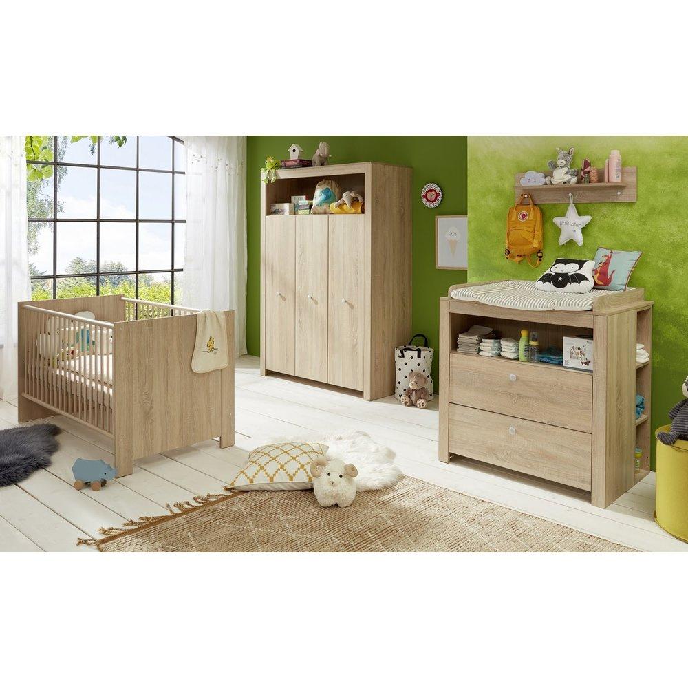 Babyzimmer Komplett Set Olivia 3 Teilig In Sonoma Eiche Hell EUR 49999