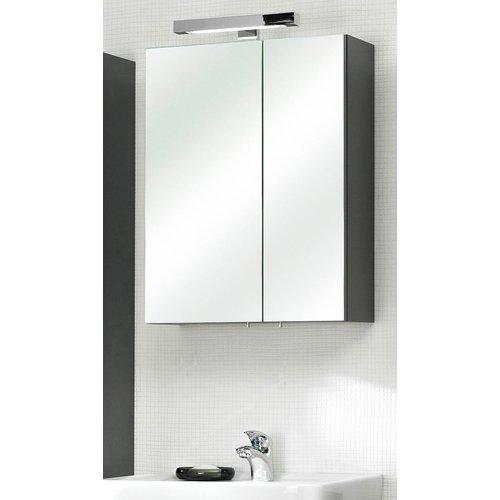 Badezimmer Spiegelschrank In Anthrazit Rio 2 Turig Inklusive