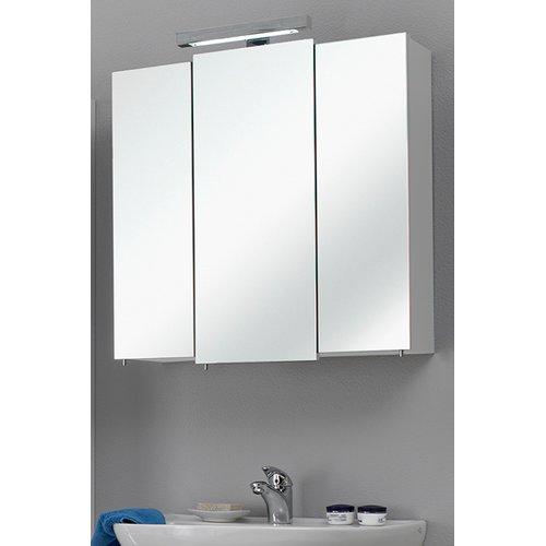 Badezimmer Spiegelschrank in weiß Glanz Livorno I 3-türig inklusive ...