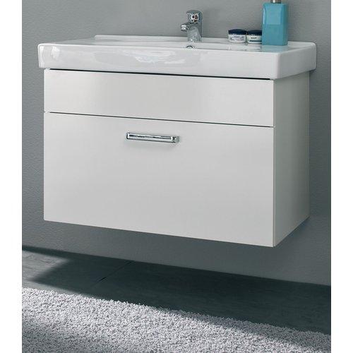 Badezimmer-Set 2-teilig in weiß Glanz Wiesbaden ...
