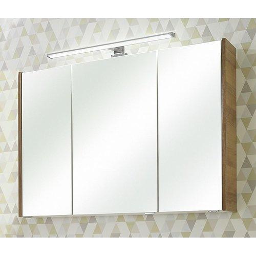 Badezimmer Spiegelschrank in Riviera Eiche 3-türig inkl LED ...