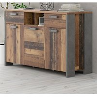 Sideboard Kommode Clif in Old Used Wood Shabby 156 x 86 cm